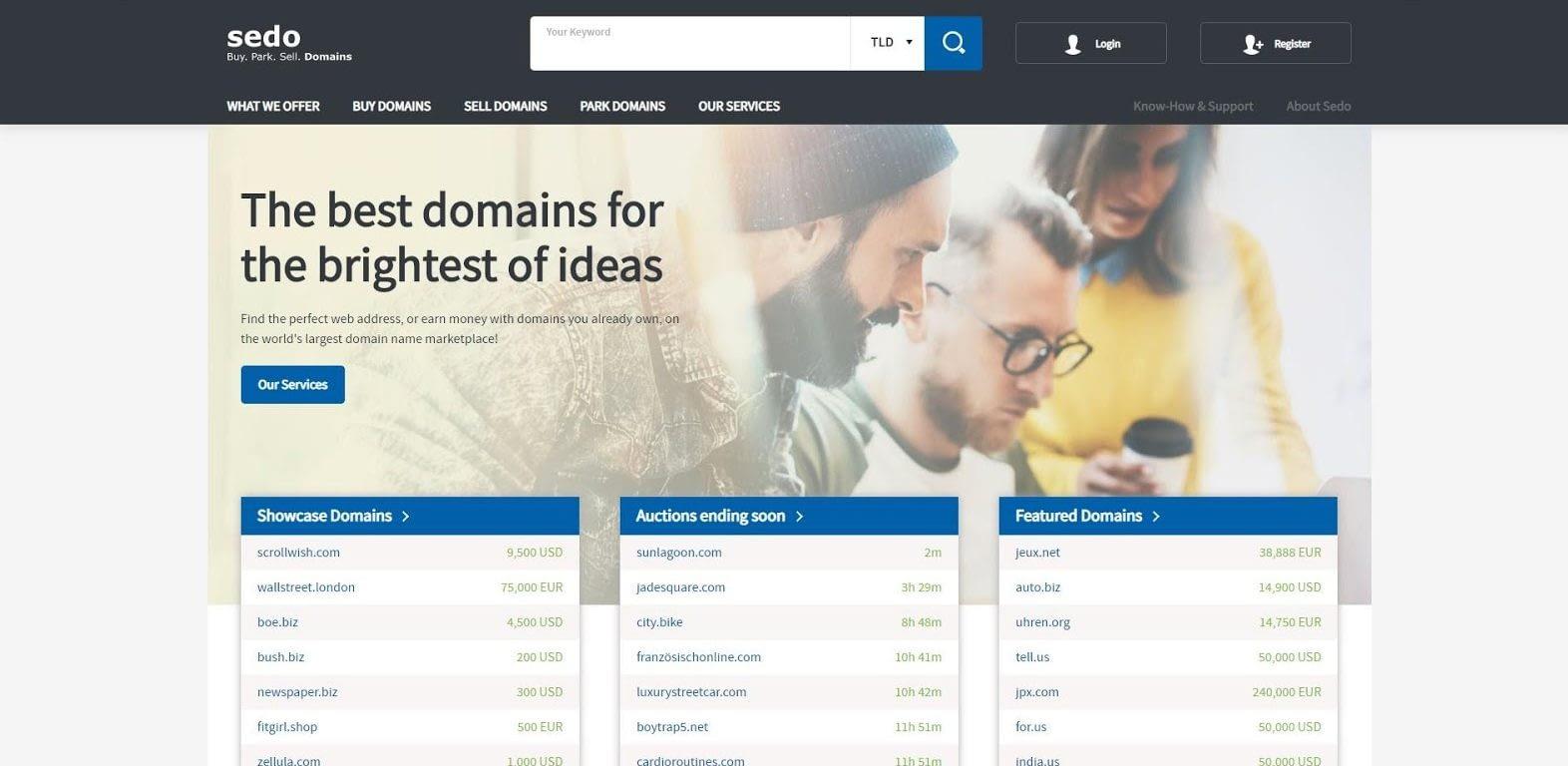 Tampilan Website Sedo